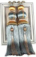 Ein Paar Handgemachte Vorhang Raffhalter Band