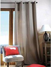 Ein Panneau de Vorhang lichtdurchlässig mit Ösen