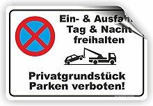 EIN- und AUSFAHRT FREIHALTEN - Parken verboten