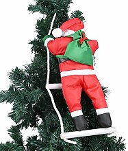 Ein Weihnachtsmann Klettern auf Strickleiter für