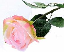 Ein Zweig Artifacial rosa Blüten Simulation TV-Schrank Tisch Im Wohnzimmer Dekoration, 1 Stück, kurz Rosa