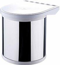 Einbau Abfalleimer - 8 Liter - Abfalleimer - Mülleimer - Eimer - Tretmülleimer - Recycling Behälter - Mülltrennung - Abfallsammler - Abfallbehälter
