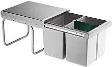 Einbau-Abfallsammler Mülleimer Abfalleimer 2x15
