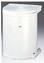 Einbau Abfallsammler -Mülleimer -Wesco Weiß 15 Liter rund ausschwenken an Drehtüren Küche Mülleimer