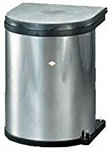 Einbau Abfallsammler Wesco Edelstahl 13 Liter rund