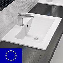 Einbau-Waschbecken 70x45x15cm eckig   70cm