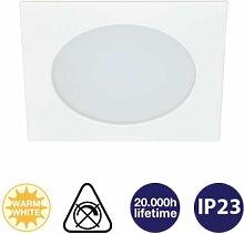 Einbauleuchte Attach LED Weiß Eckig