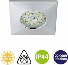 Einbauleuchte IP44 LED 5W 400lm Chrom schwenkbar