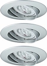 Einbauleuchte LED Premium Line Power 3er Set Alu