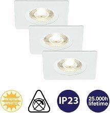 Einbauleuchten Prisma LED 3er Set weiß