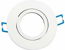 Einbaurahmen schwenkbar mit Druckring Weiß 4