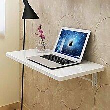 Einbauschrank Wandtisch Wandmontiert Drop-Blatt Tisch Falten Badezimmer Küche Esstisch Schreibtisch ( Farbe : Weiß , größe : 60*35cm )