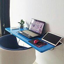 Einbauschrank Wandtisch Wandmontiert Drop-Blatt Tisch Falten Badezimmer Küche Esstisch Schreibtisch ( Farbe : Blau , größe : 100*40cm )