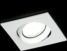 Einbauspot Modern Weiss Glanz Metall Viereckig