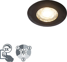 Einbauspot schwarz inkl. LED 3-Stufen dimmbar - Ulo