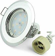 Einbauspot Set LED K-15 Chrom 230V + GU10 Fassung