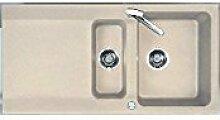 Einbauspüle Capri 60 granit beige eurostone Siebkorb-Excenter 3 1/2 Zoll