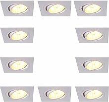 Einbaustrahler 5W LED 10er Set eckig  