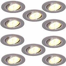 Einbaustrahler 5W LED 10er Set rund  