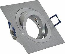 Einbaustrahler Aluminium gebürstet   Quadratisch