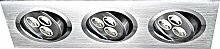 EINBAUSTRAHLER Aluminium nickel matt 3xLED Globo
