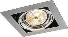 Einbaustrahler Aluminium quadratisch schwenkbar