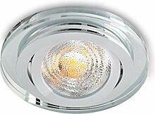 Einbaustrahler aus Glas/Spiegel/Klar CRISTAL-S