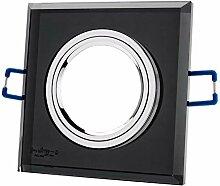 Einbaustrahler aus Glas/Spiegel/Schwarz CRISTAL