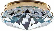 Einbaustrahler aus Kristallglas Basis aus Metall