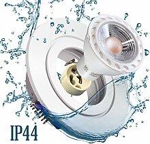 Einbaustrahler Bad IP44 mit GU10 Fassung RUND