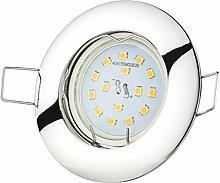 Einbaustrahler CHROM 230Volt 5Watt 430Lumen LED