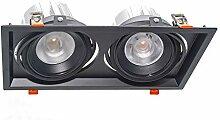 Einbaustrahler Doppel LED Lampe 60W AR111