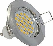 Einbaustrahler | Farbe Chrom |230V GU10 5Watt LED