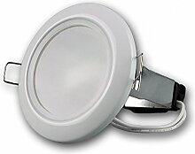 Einbaustrahler Feuchtraum, GU10 IP44, weiß, rund