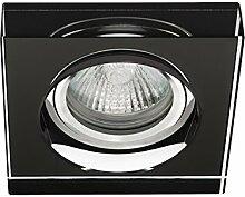 Einbaustrahler inkl. LED SMD Morte 230V GU10 Glas Deckenspots Einbauspots WOW (Schwarz)