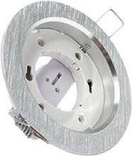 Einbaustrahler Lampenfassung GX53 230V rund Alu