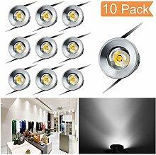 Einbaustrahler LED 10er Set, 1W LED Deckenstrahler