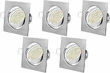 Einbaustrahler LED Eckig GU10 3W Warmweiß 230V