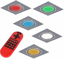 Einbaustrahler LED RGB Farbwechsel | 5er Set