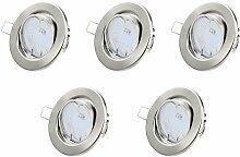Einbaustrahler LED Set - Warmweiss GU10 5W