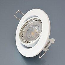 Einbaustrahler M802 inkl. LED 7W Warmweiß DIMMBAR Einbaulampe Einbauleuchte Spot Strahler EinbauSpot Strahler GU10 Weiß