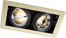 Einbaustrahler Messing verstellbar 2 Lampen -