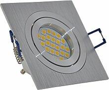 Einbaustrahler quadratisch | Aluminium gebürstet