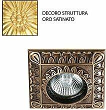 Einbaustrahler quadratisch gold satiniert