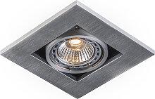Einbaustrahler Qure 1 GU10 Aluminium