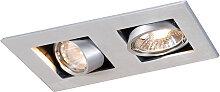 Einbaustrahler Qure 2 GU10 Aluminium