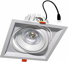 Einbaustrahler schwenkbar quadratisch 160 mm LED