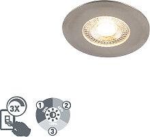 Einbaustrahler silber inkl. LED 3-stufig dimmbar -