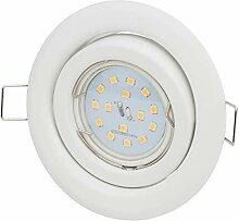 Einbaustrahler Weiss Set 5Watt LED 430Lumen