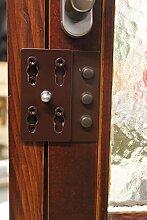 Einbruchschutz für Doppelflügel Fenster und Türen ESP 30 braun zum nachrüsten nach DIN 18104-1